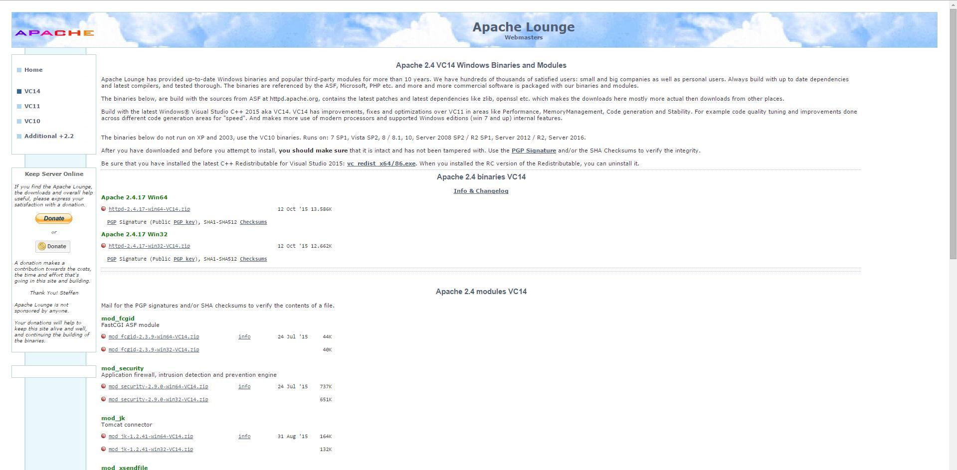 Локальный сервер апачи скачать
